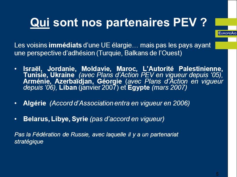 5 Qui sont nos partenaires PEV .