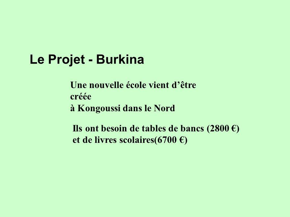 Une nouvelle école vient dêtre créée à Kongoussi dans le Nord Le Projet - Burkina Ils ont besoin de tables de bancs (2800 ) et de livres scolaires(6700 )