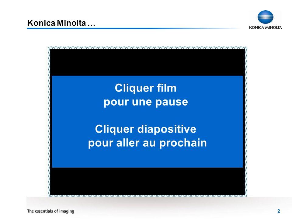 3 Groupe Konica Minolta Business Solutions Recherche & Développement Nos technologies Nos concepts Cliquer film pour une pause Cliquer diapositive pour aller au prochain Cliquez sur le logo pour plus dinformations