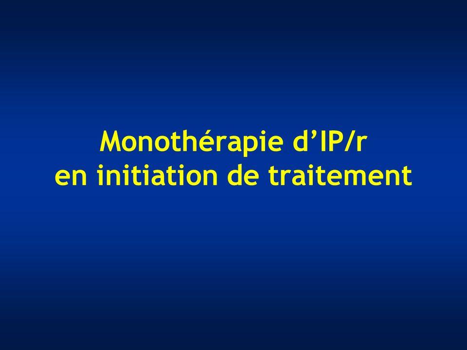 Monothérapie dIP/r en initiation de traitement