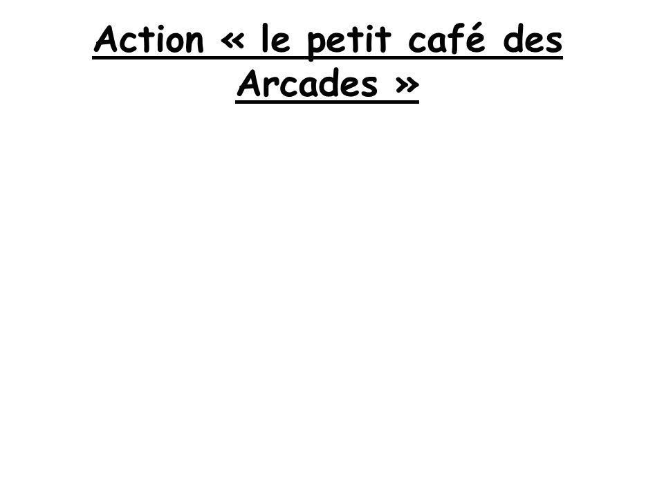 Action « le petit café des Arcades »
