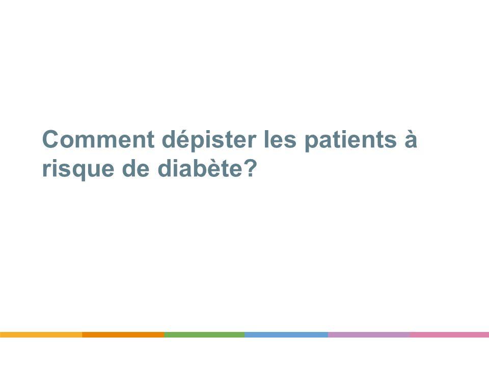 Comment dépister les patients à risque de diabète?