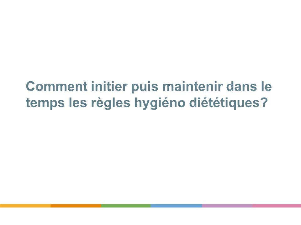Comment initier puis maintenir dans le temps les règles hygiéno diététiques?