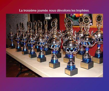 La troisième journée nous dévoilons les trophées.