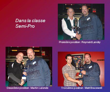 Dans la classe Semi-Pro Première position : Reynald Landry Deuxième position : Martin LalondeTroisième position : Matt Bracewell