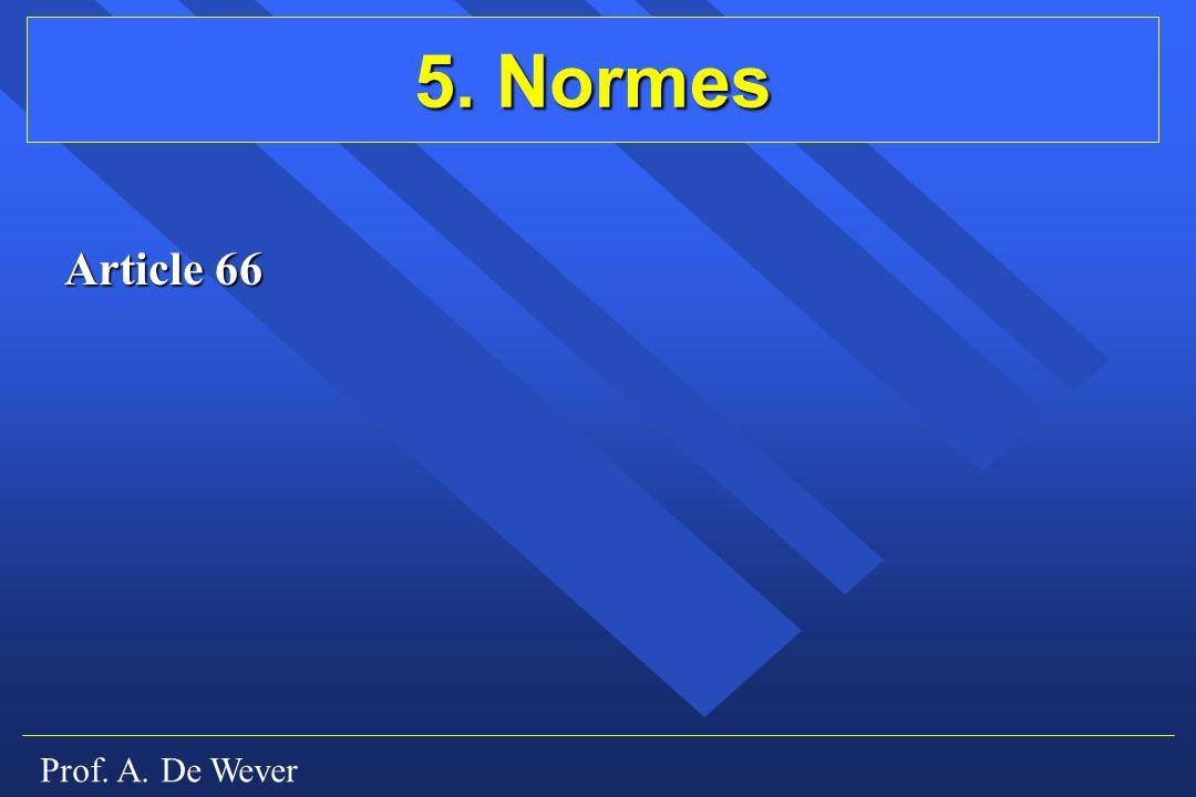 Prof. A. De Wever 5. Normes Article 66