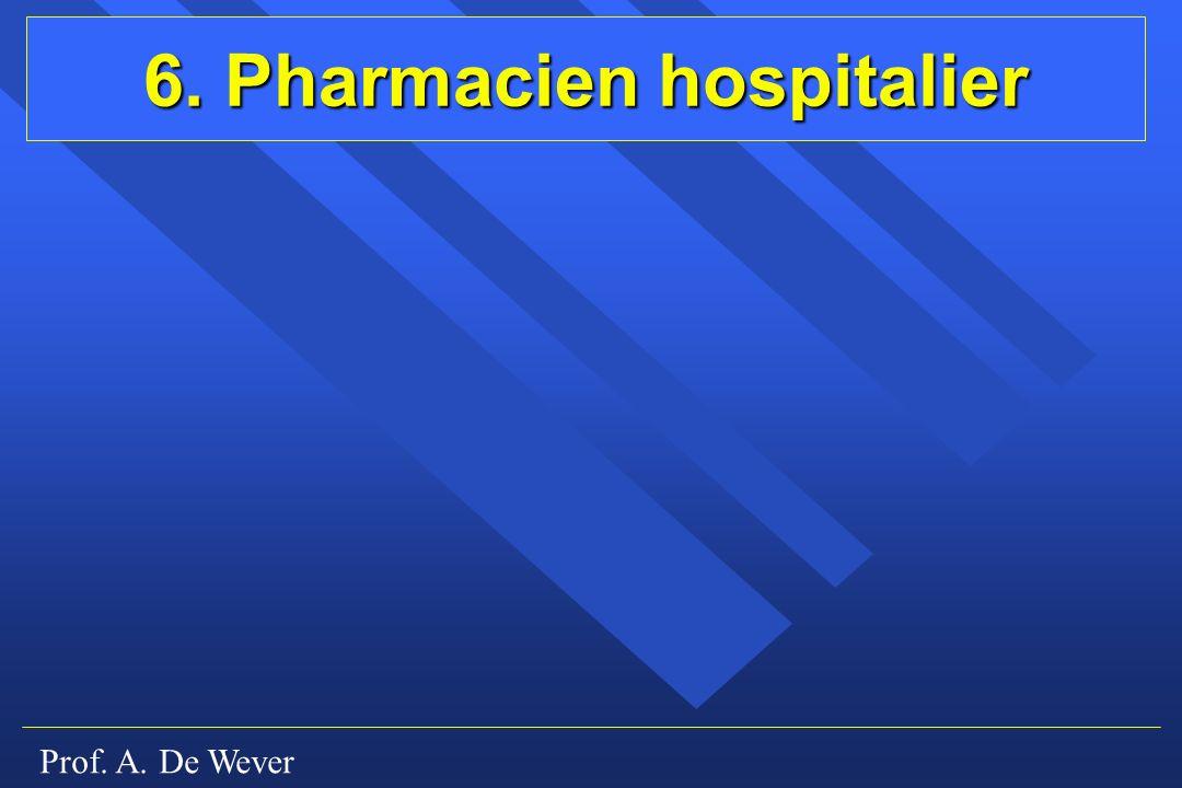 Prof. A. De Wever 6. Pharmacien hospitalier