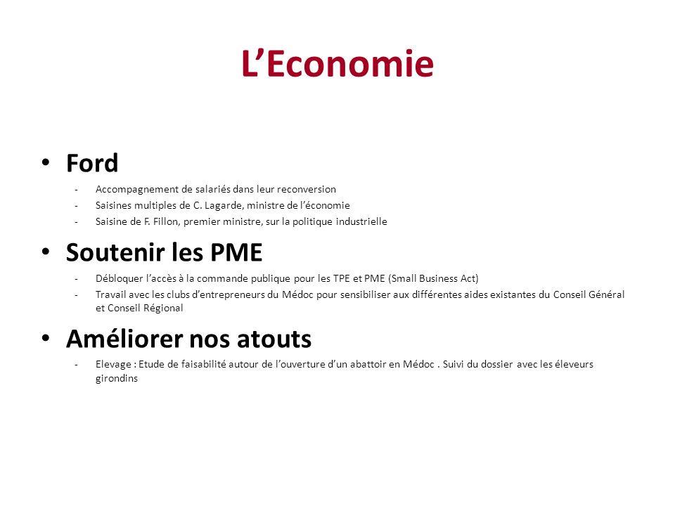 LEconomie Ford -Accompagnement de salariés dans leur reconversion -Saisines multiples de C.