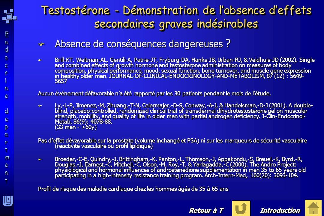 Endocrine departmentEndocrine department Endocrine departmentEndocrine department F Absence de conséquences dangereuses ? F Brill-KT, Weltman-AL, Gent