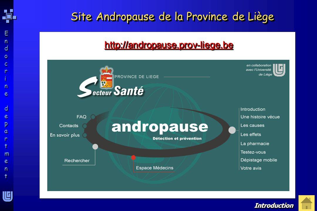 Endocrine departmentEndocrine department Endocrine departmentEndocrine department Site Andropause de la Province de Liège http://andropause.prov-liege
