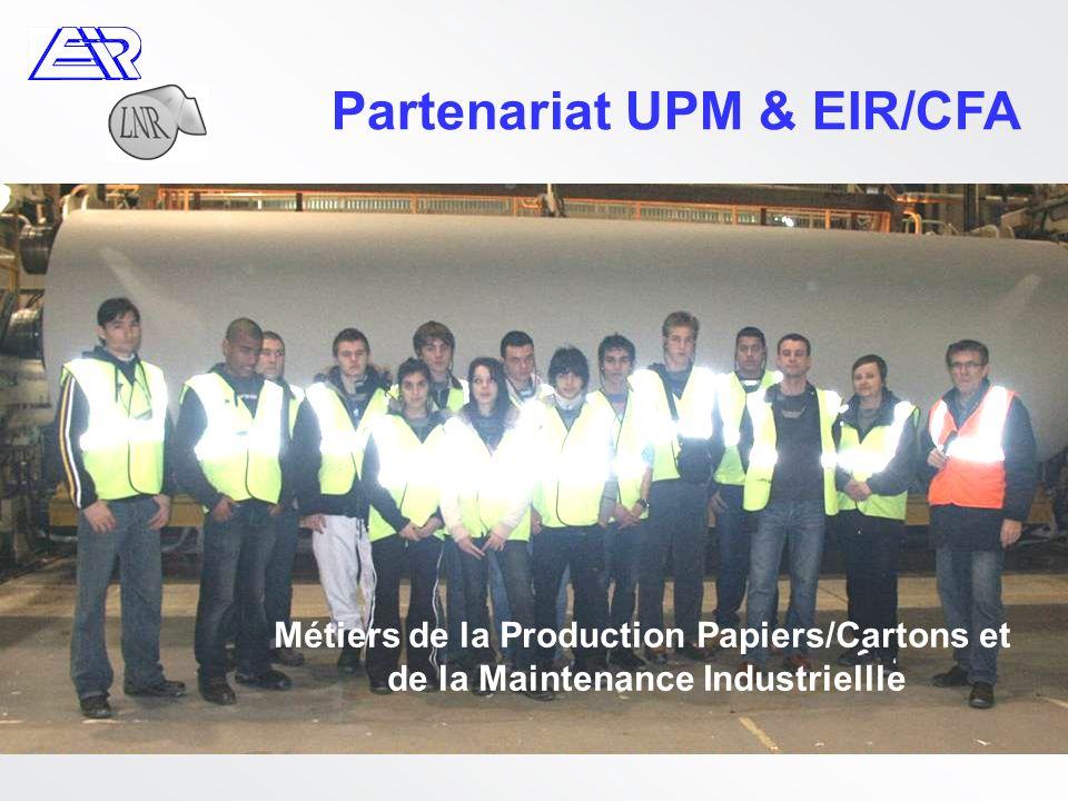 Partenariat UPM & EIR/CFA Métiers de la Production Papiers/Cartons et de la Maintenance Industriellle