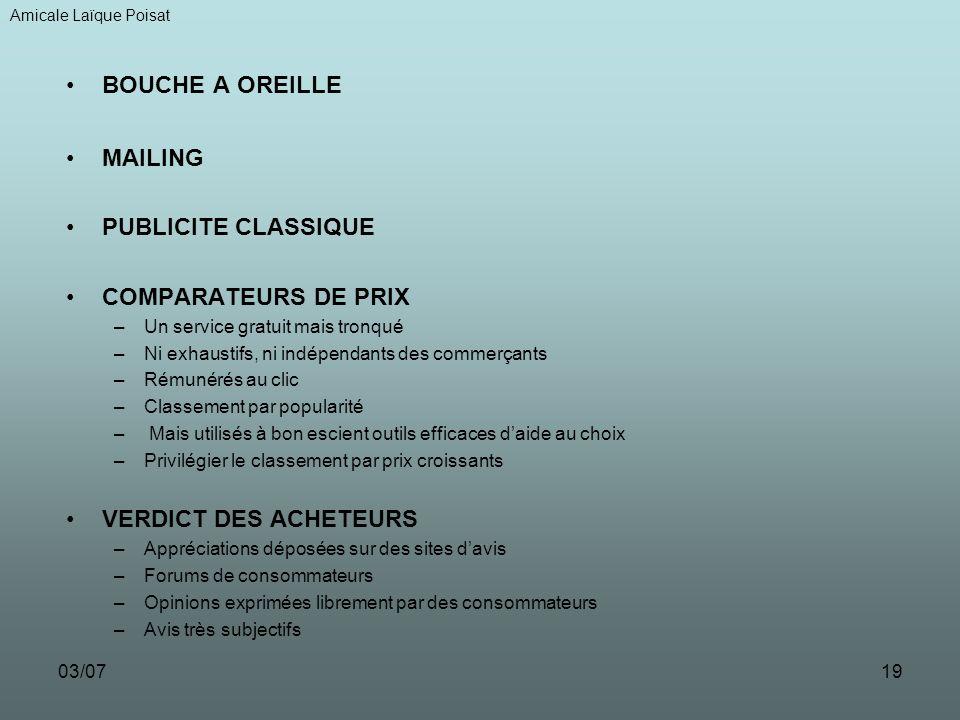 03/0718 ACHETER sur INTERNET LES OUTILS Amicale Laïque Poisat