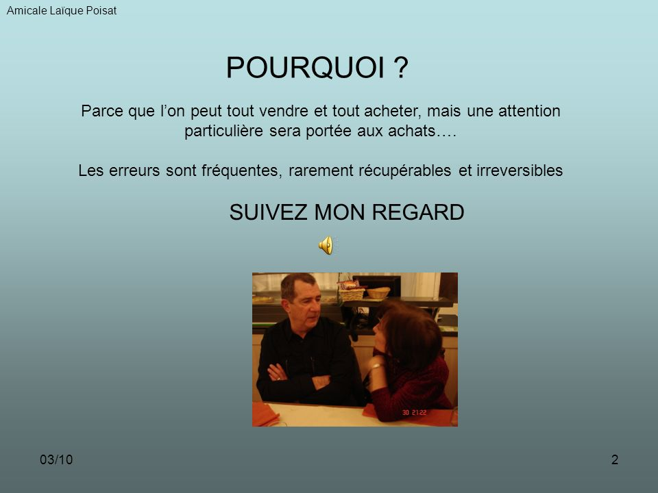 03/101 VENDRE ET ACHETER SUR INTERNET Amicale Laïque Poisat