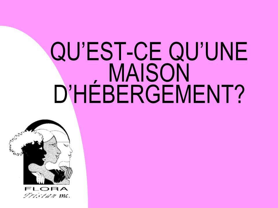 QUEST-CE QUUNE MAISON DHÉBERGEMENT?