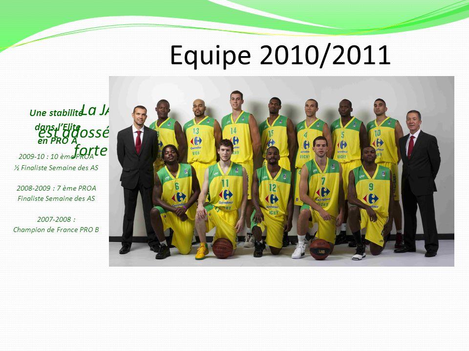 Equipe 2010/2011 La JAV, Société anonyme sportive professionnelle est adossée à lassociation sportive Jeanne dArc de Vichy, forte de 450 licenciés pou