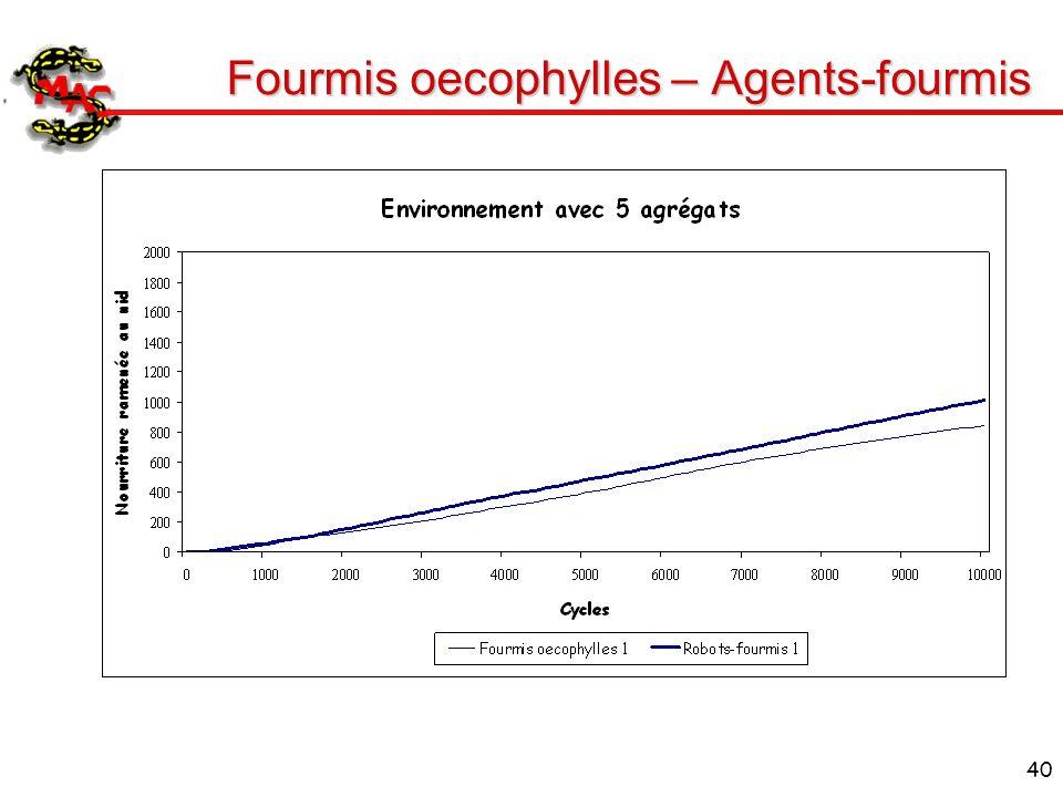 40 Fourmis oecophylles – Agents-fourmis