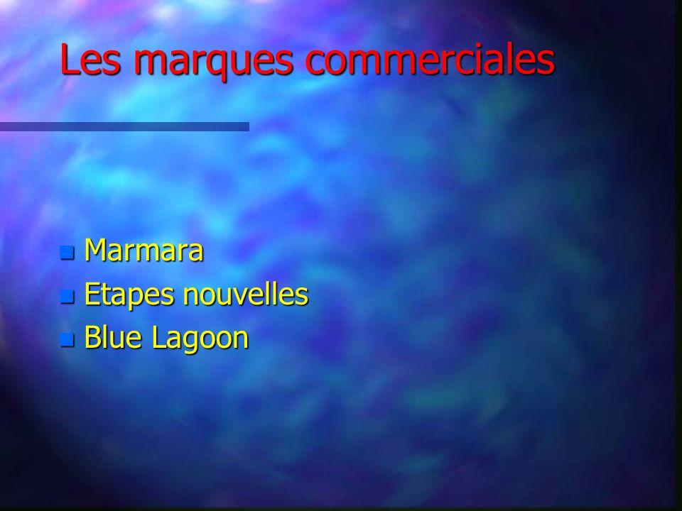 Les marques commerciales n Marmara n Etapes nouvelles n Blue Lagoon