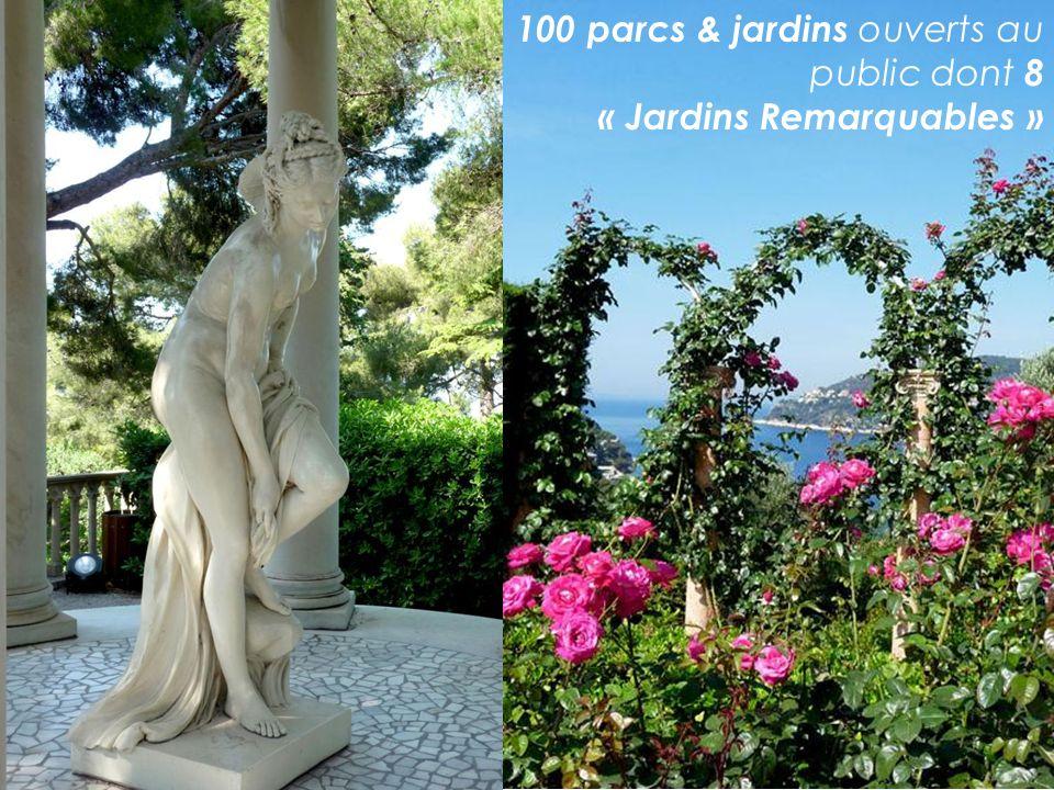 100 parcs & jardins ouverts au public dont 8 « Jardins Remarquables »