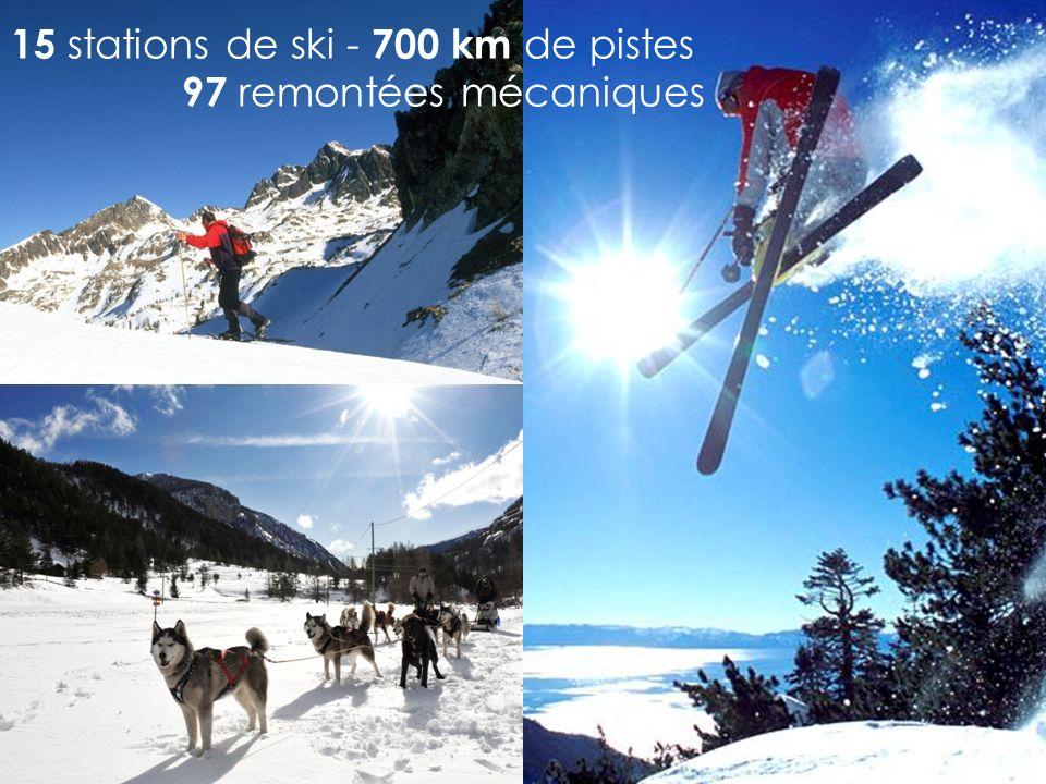 15 stations de ski - 700 km d e pistes 97 remontées mécaniques