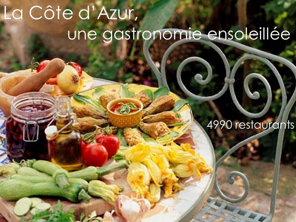 La Côte dAzur, une gastronomie ensoleillée 4990 restaurants