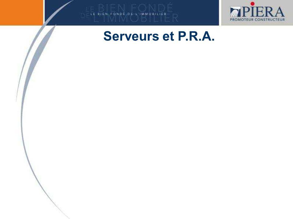 Serveurs et P.R.A.