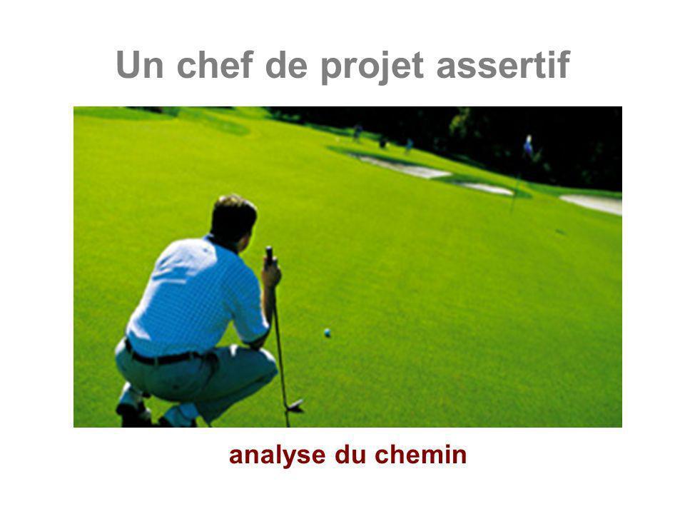 Un chef de projet assertif analyse du chemin