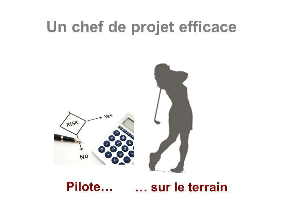 Un chef de projet efficace Pilote… … sur le terrain