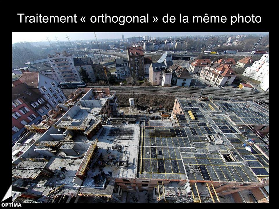 Traitement « orthogonal » de la même photo