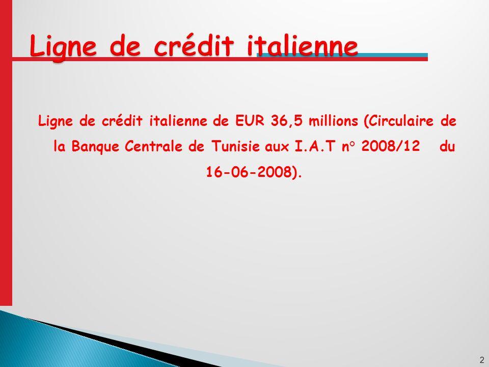 13 BCT IAT Artigiancassa Accord définitif (2) Paiement (3) Instructions de paiement (3) Procédure dinstruction des dossiers dans le cadre de la ligne de crédit Italienne Fournisseur Demande de règlement (3) Ambassade dItalie BCT/SGLFE Demande dimputation (1) Accord préalable (2) Accord définitif (2) Documents +Annexe (3) Demande dimputation Echéancier (3)