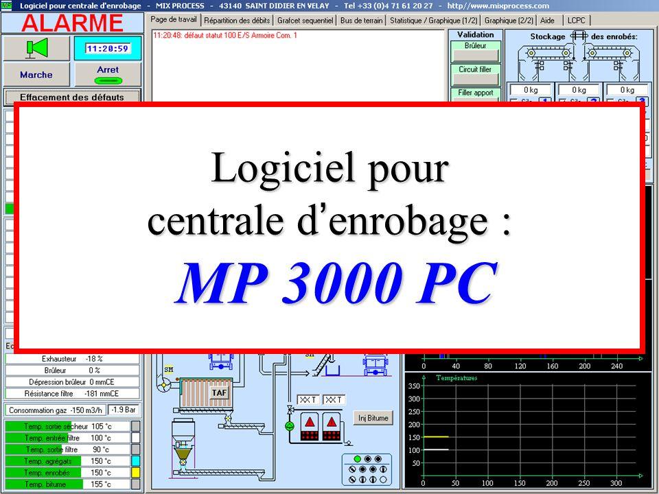 Logiciel pour centrale d enrobage : MP 3000 PC