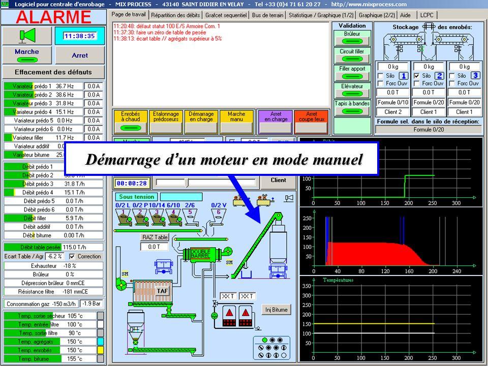 Démarrage d un moteur en mode manuel Démarrage d un moteur en mode manuel