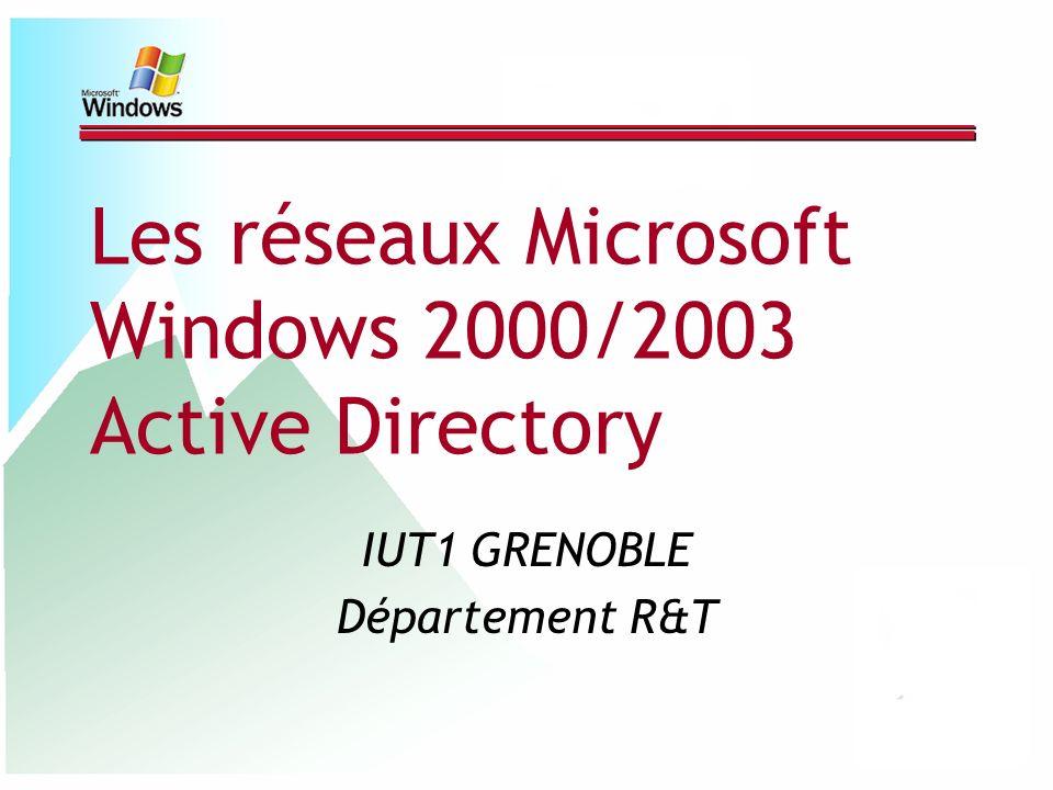 Les réseaux Microsoft Windows 2000/2003 Active Directory IUT1 GRENOBLE Département R&T