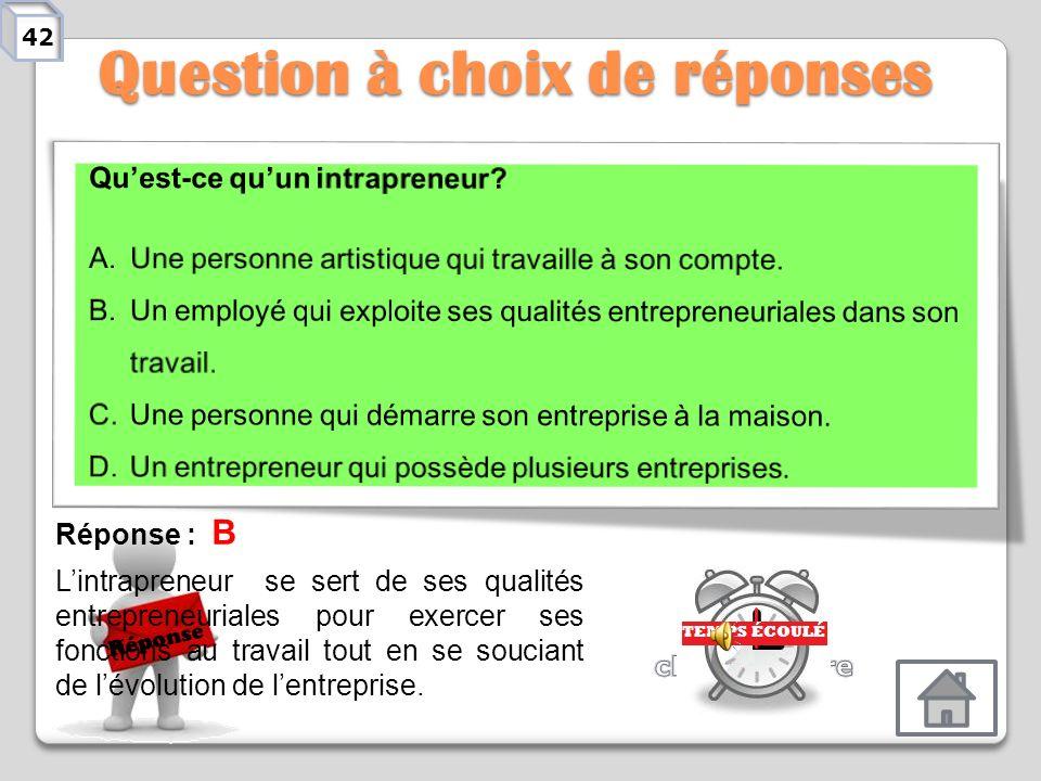 Qui suis-je? Réponse Réponse : Lidée Définition : Cest la première étape du processus de démarrage dune entreprise ou dun projet entrepreneurial. On i
