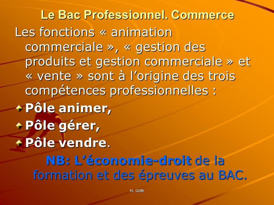 Les fonctions « animation commerciale », « gestion des produits et gestion commerciale » et « vente » sont à lorigine des trois compétences profession