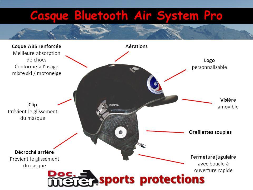 Casque Bluetooth Air System Pro Visière amovible Fermeture jugulaire avec boucle à ouverture rapide Coque ABS renforcée Meilleure absorption de chocs