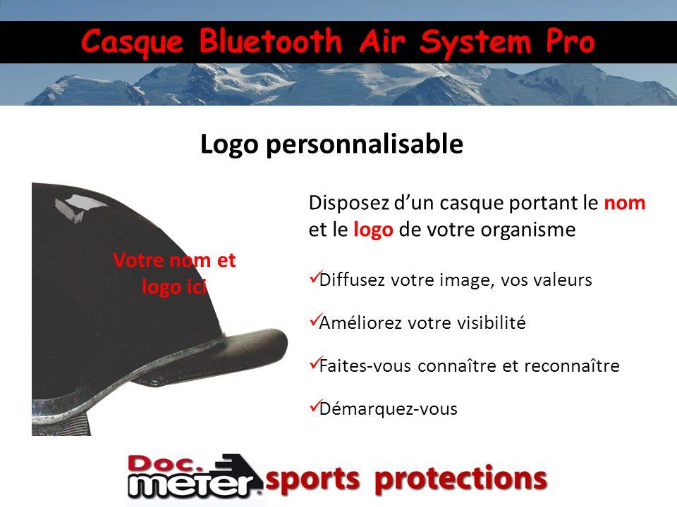 Casque Bluetooth Air System Pro Disposez dun casque portant le nom et le logo de votre organisme Diffusez votre image, vos valeurs Améliorez votre vis