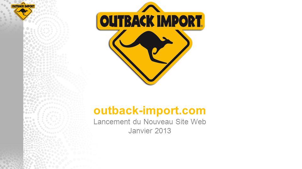 outback-import.com Lancement du Nouveau Site Web Janvier 2013