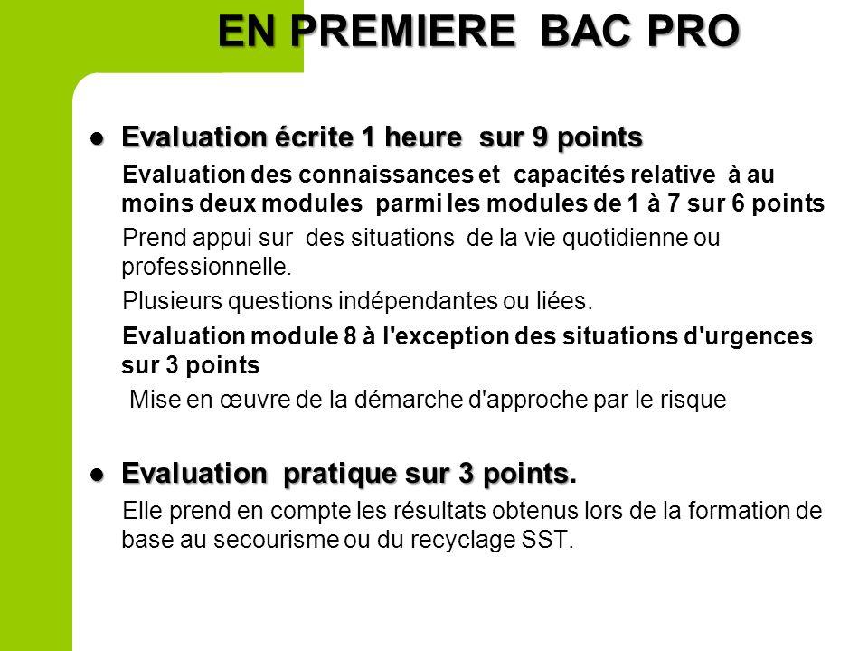 La situation dévaluation en 2 nd Pro sert de support à la certification intermédiaire. Elle constitue la première situation dévaluation pour la valida