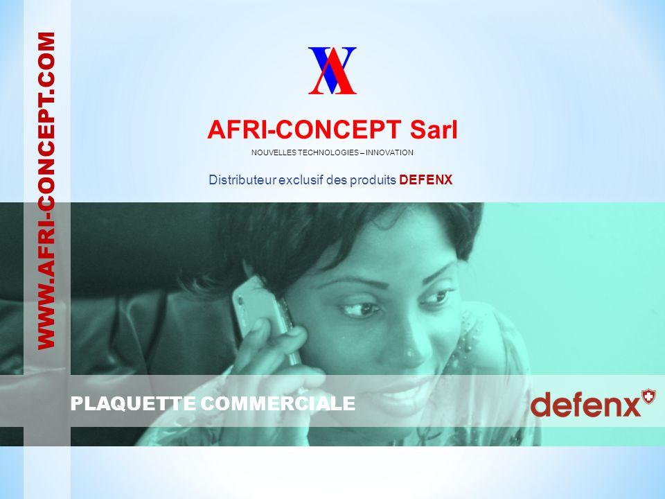 AFRI-CONCEPT est une société congolaise basée à Pointe-Noire dont les compétences sarticulent autour de la sécurité informatique et distribue exclusivement les produits DEFENX en Afrique francophone.