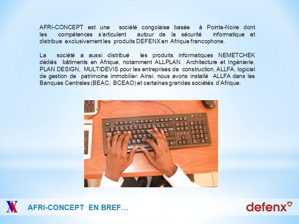 Internet Security WWW.AFRI-CONCEPT.COM Sécurité à 360° degrés Défense préventive contre les menaces Protection complète contre tous les malwares Anti spam personnalisé Navigation web en complète sécurité Autoprotection à lépreuve dattaque Simplicité dutilisation maximale.