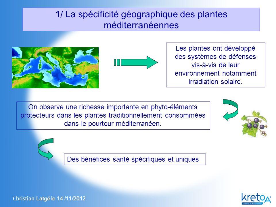 Christian Latgé le 14 /11/2012 Les plantes ont développé des systèmes de défenses vis-à-vis de leur environnement notamment irradiation solaire.