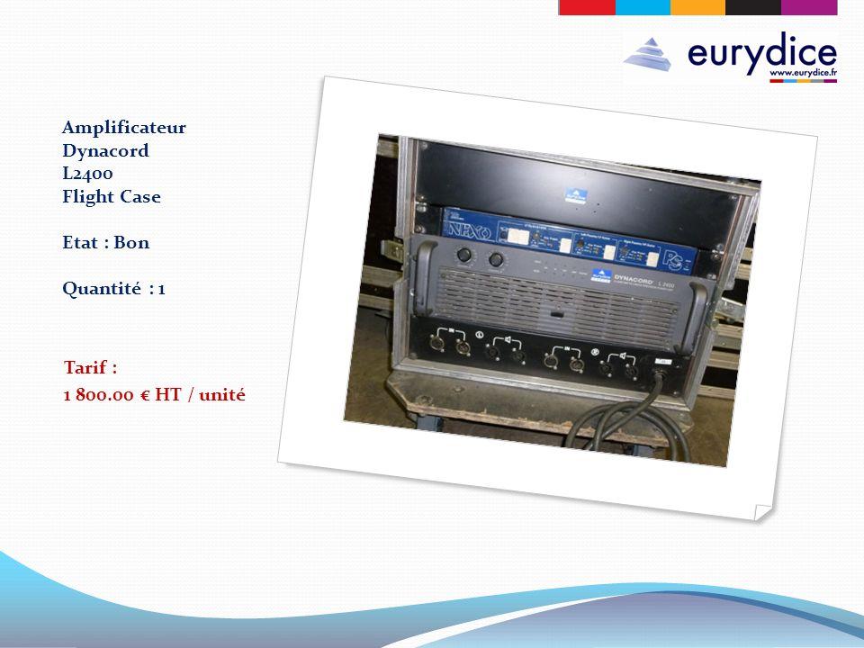 Amplificateur Dynacord L2400 Flight Case Etat : Bon Quantité : 1 Tarif : 1 800.00 HT / unité