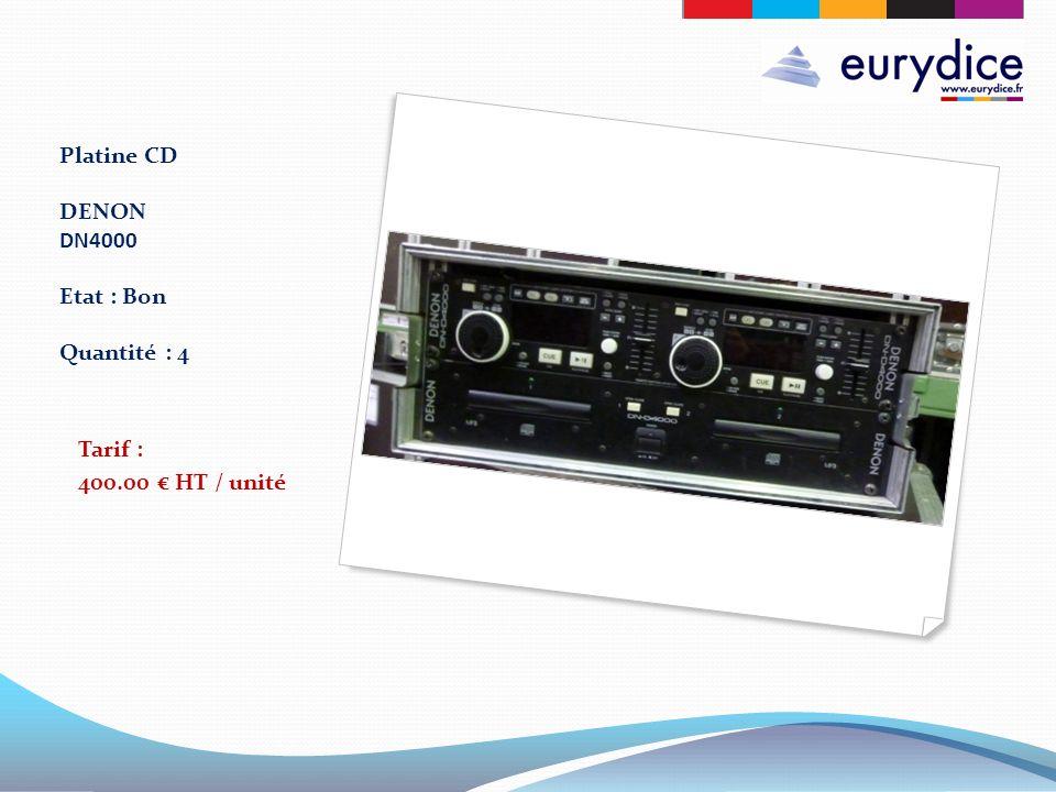 Platine CD DENON DN4000 Etat : Bon Quantité : 4 Tarif : 400.00 HT / unité