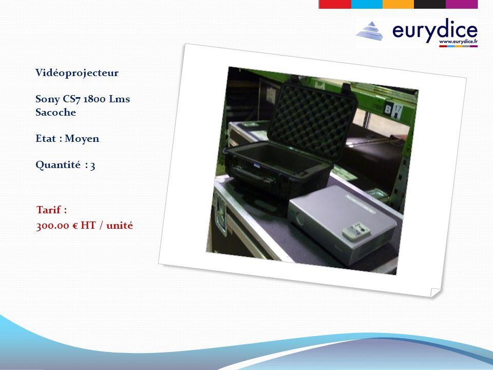 Vidéoprojecteur Sony CS7 1800 Lms Sacoche Etat : Moyen Quantité : 3 Tarif : 300.00 HT / unité