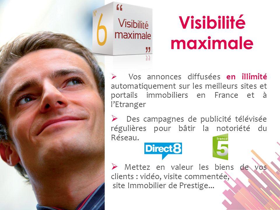 Vos annonces diffusées en illimité automatiquement sur les meilleurs sites et portails immobiliers en France et à lEtranger Des campagnes de publicité