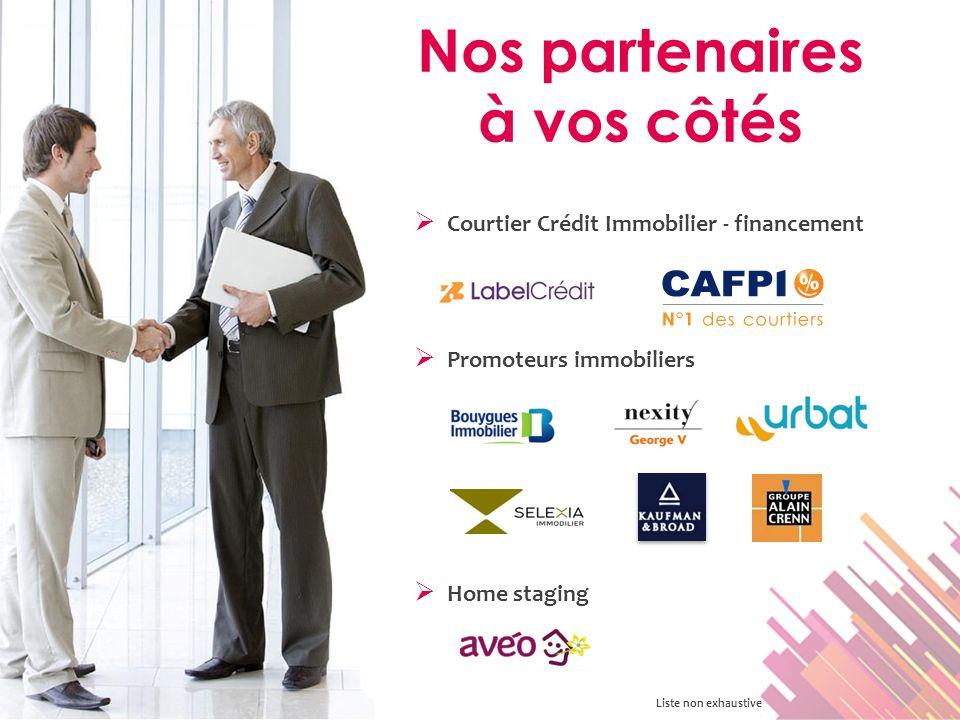 Courtier Crédit Immobilier - financement Nos partenaires à vos côtés Promoteurs immobiliers Liste non exhaustive Home staging