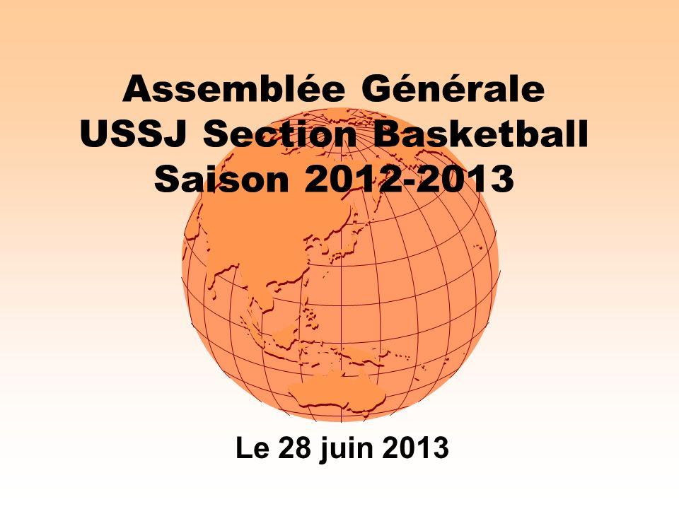 Assemblée Générale USSJ Section Basketball Saison 2012-2013 Le 28 juin 2013