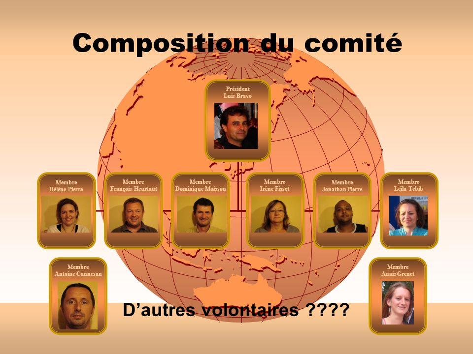 Composition du comité Président Luis Bravo Membre François Heurtaut Membre Irène Fisset Membre Dominique Moisson Membre Leïla Tebib Membre Hélène Pier