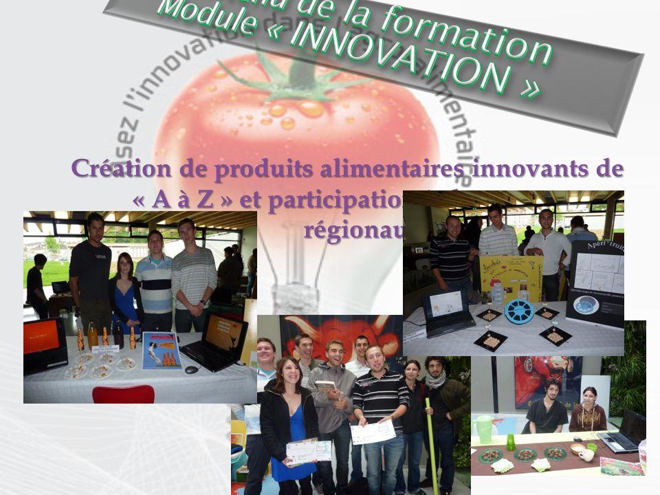 Création de produits alimentaires innovants de « A à Z » et participation à des concours régionaux