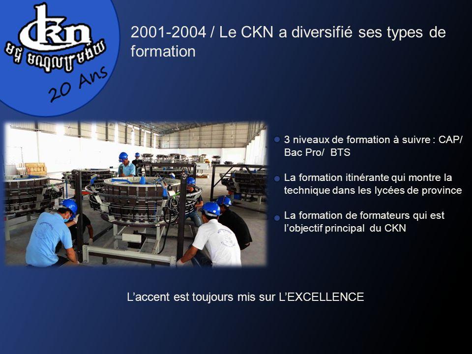3 niveaux de formation à suivre : CAP/ Bac Pro/ BTS La formation itinérante qui montre la technique dans les lycées de province La formation de format